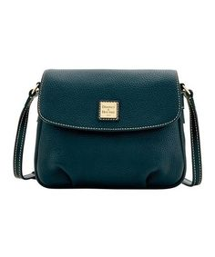 Another great find on #zulily! Black-on-Black Flap Leather Crossbody Bag #zulilyfinds
