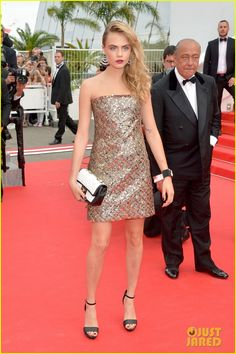 cara delevingne barbara palvin search cannes premiere 12 Cara Delevingne and Babara Palvin look gorgeous on the red carpet at the premiere for The Search during the 2014 Cannes Film Festival on Wednesday (May 21) in Cannes,…