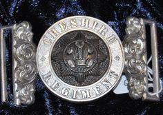 The Cheshire Regiment - Officers Waist Belt Clasp 1881-1902 | eBay