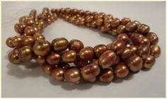 Cultured Freshwater Pearls Rice Baroque Beads by PriorityBeads