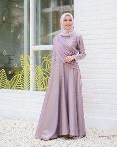 Image may contain: 1 person, standing - Hijab+ Dress Brokat Muslim, Dress Brokat Modern, Kebaya Modern Dress, Kebaya Dress, Dress Pesta, Muslim Dress, Kebaya Muslim, Hijab Evening Dress, Hijab Dress Party