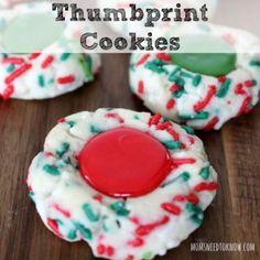 Christmas Thumbprint Cookies sq