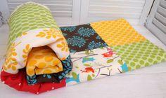 Patchwork Baby Blanket - Gender Neutral Fleece - It's a Hoot