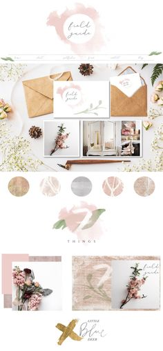 Inspiration Boards - Little Blue Deer Custom Blog Design and Website Design