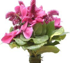 bouquet da sposa con ciclamini