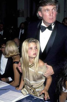 Donald with a young Ivanka during the late 80's | Donald Trump