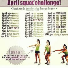 Squats!  I'm gonna try it even if we are almost half way thru the month