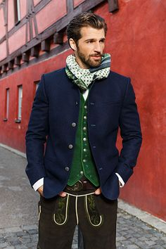 Gössl Online-Shop - Männer Neue Outfits, Komplette Outfits, Germany Outfits, European Costumes, German Costume, Leather Fashion, Mens Fashion, Beard Styles For Men, Herren Outfit