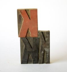 vintage wood letterpress 'K'