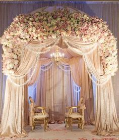 Lavish mandap could be a beautifull chuppah with a few alterations.