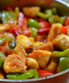You can pull this Sweet and Sour chicken together in about 30 minutes. It is a tasty dish all by itself but you can serve it over rice or Chinese noodles.