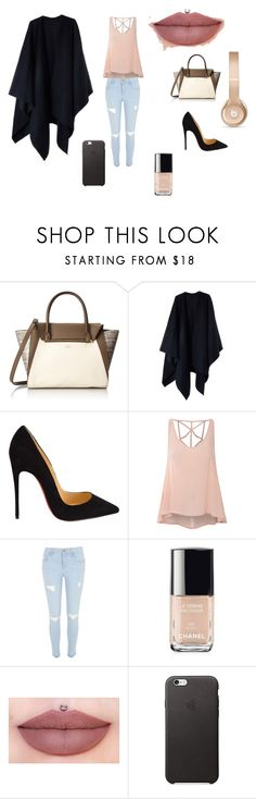 """""""Fancy but not? (:"""" by be1a3 ❤ liked on Polyvore featuring Vince Camuto, Acne Studios, Christian Louboutin, Glamorous, River Island, Chanel, Beats by Dr. Dre, women's clothing, women and female"""