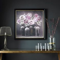 "Graham & Brown 31 in. x 31 in. ""Bloom Floral"" Printed Framed Wall Art 101547 - The Home Depot Pink Wall Art, Floral Wall Art, Metal Wall Art, Framed Wall Art, Wall Art Prints, Floral Prints, Framed Prints, Flower Frame, Flower Wall"