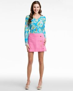 Lilly Pulitzer 'Hayes' Hotty Pink Skirt