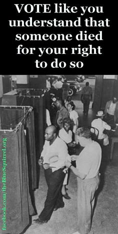 Get up, get out NOW & do what you need to do to be ready to vote next election! Get your ID ready if you need one! Whatever it takes! God Bless America, African American History, Civil Rights, We The People, Black People, Black History, In This World, Equality, Persona