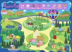Peppa Pig-example of call to action using large icons in a menu bar for a kids website design