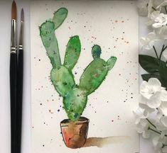 Watercolour Cactus Painting, Cactus Art, Succulent Artwork, Watercolour Print, Art Prints, Cactus Print, Gift Ideas, Succulent Wall Decor Cactus Painting, Watercolor Cactus, Cactus Art, Watercolor Print, Cactus Plants, Succulent Wall, Succulents, Wall Decor, Art Prints