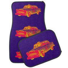 Shop Checker Cab Taxi Pop Art Car Mat created by KWJPHOTOART. Car Mats, Taxi, Pop Art, Antique Cars, Fine Art Prints, Phone Cases, Gifts, Vintage Cars, Presents
