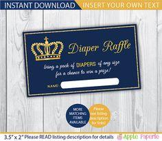 printable diaper raffle / diaper raffle ticket / by TinyConfetti