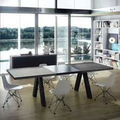 Apex Modern Concrete Extension Dining Table