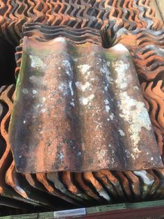Reclaimed clay triple Roman roof tiles