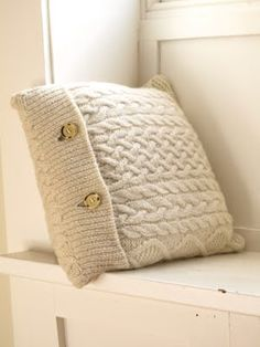 Recycled Sweater Pillows...who doesn't have a sweater that they no longer wear?
