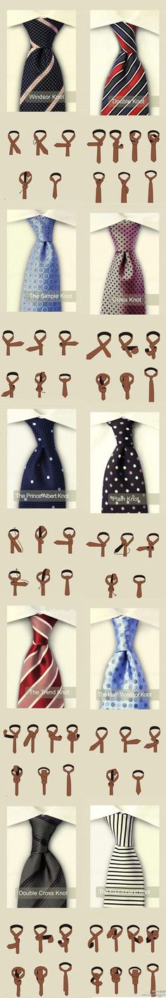 Different ways to tie a necktie (men fashion) | SmashinBeauty