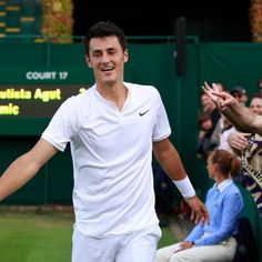 Bernard Tomic shortly after beating Roberto Bautista Agut in the third round at…