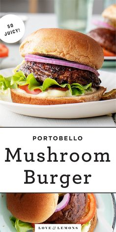 Grilled Portobello Mushroom Burgers are the BEST healthy dinner recipe for a cookout. Super flavorful yet easy to make, they're be a hit with vegetarians and meat eaters alike! | Love and Lemons #grillingrecipes #mushrooms #veganrecipes #healthyrecipes #dinnerrecipes Burger Recipes, Grilling Recipes, Veggie Recipes, Veggie Meals, Vegetarian Dinners, Vegetarian Recipes, Vegan Recepies, Vegetarian Grilling, Portobello Mushroom Burger