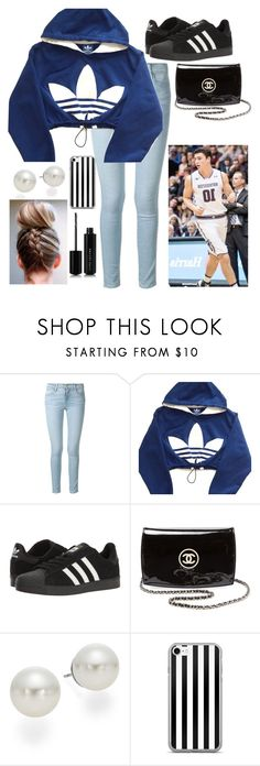 """Cheering on Charlie Hall at his Basketball Game"" by stinkerbelle2000 ❤ liked on Polyvore featuring Frame, adidas, Chanel, AK Anne Klein and Marc Jacobs"