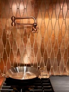Custom Cut Copper La Leaf  by Artistic Tile