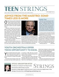 Teen Strings Tip Sheet #4: Advice From the Maestro