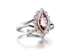 A Pink Spinel Ring