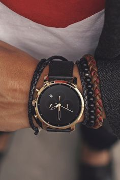 "themanliness: The Black and Gold Chrono from MVMT Watches. Check out all the models on their website. Click the link and use the coupon ""themanliness"" for $10 off your order! Join the MVMT"