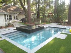 Best Swimming Pool Ideas for Small Backyard Small Swimming Pools, Best Swimming, Small Pools, Swimming Pool Designs, Small Backyards, Spa Design, Design Ideas, House Design, Modern Garden Design