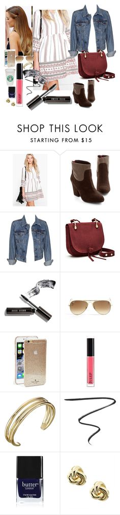 """""""Untitled #1380"""" by inthesun707 ❤ liked on Polyvore featuring Boohoo, Levi's, Elizabeth and James, Bobbi Brown Cosmetics, Ray-Ban, Lauren Conrad, Kate Spade, Julep, Karen Kane and Charlotte Tilbury"""