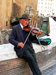 Italian Music for Cobblestone Streets, Rome there was a man who played the violin at our church for the Blessed Mother..what a beautiful memory