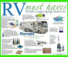 I'm seeing warm weather and sunshine coming our way soon!! Time to get out those RV's and campers out of storage! Norwex can help you get it cleaned up quick and easy and help keep it clean while on vacation this summer. :) Here are some products that would be worth keeping in your RV. Click on the Image for more info.