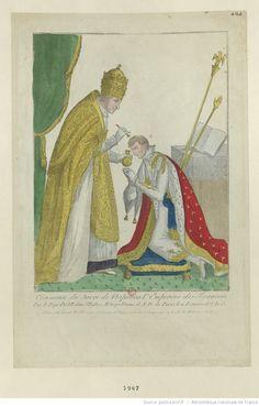 Cérémonie du Sacre de Napoléon 1.er Empereur des Français, Par le Pape Pie VII dans l'Église Métropolitaine de N. D. de Paris, le 11 Frimaire de l'An 13 : [estampe]