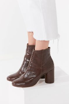 Sabrina Faux Snakeskin Ankle Boot | Urban Outfitters