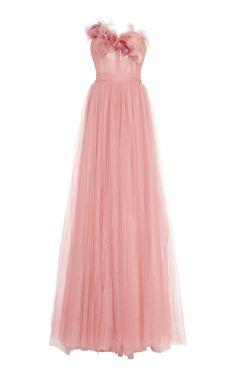 Sweetheart Flower Tulle Gown by Marchesa Vestidos Marchesa, Marchesa Gowns, Georgina Chapman, Elegant Dresses, Pretty Dresses, Elie Saab, Bridesmaid Dresses, Prom Dresses, Formal Dresses