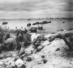 Omaha Beach after American seizure, June 1944