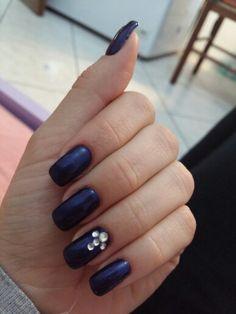 #dark #blue #nails #lovethem