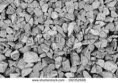 Gray gravel texture - stock photo