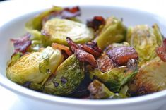 Roasted Brussels Sprouts with Bacon | 30 Bacon Recipes That Prove It's The Best Food On Earth