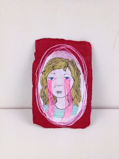 Pink tears by MarshMade on Etsy,
