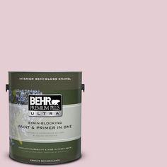 BEHR Premium Plus Ultra 1-gal. #100C-2 Cool Pink Semi-Gloss Enamel Interior Paint