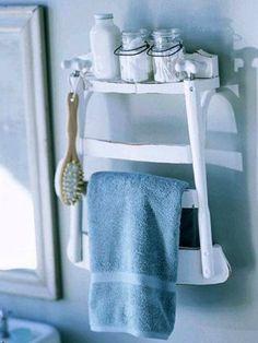 idée a retenir: mais a utiliser en perpendiculaire du mur pour y mettre plusieurs serviettes