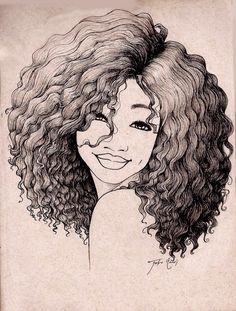 little girls with afros | 1Commission Girl with glasses by ...