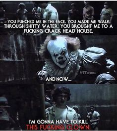 pennywise is shooketh Horror Quotes, Scary Quotes, Scary Movies, Horror Movies, Good Movies, It Movie Cast, Movie Tv, Movie Memes, Funny Memes